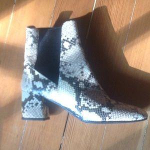 ATP snake skin ankle boots